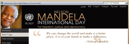 Nelson Mandela International Day, July 18, For Freedom, Justice and Democracy