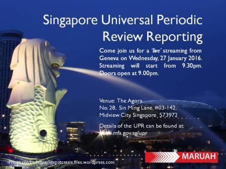Singapore UPR Invite